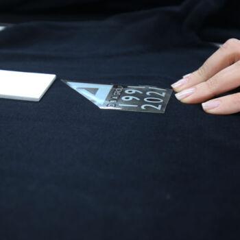 Dema pubblicità-maglie manica lunga blu particolare