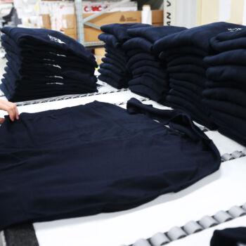 Dema pubblicità-maglie maniche lunghe blu